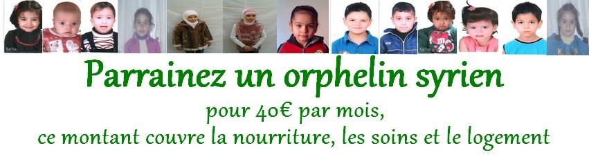 parrainage orphelins syriens