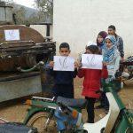 un peu de chaleur pour l'école des réfugiés - janvier 2015