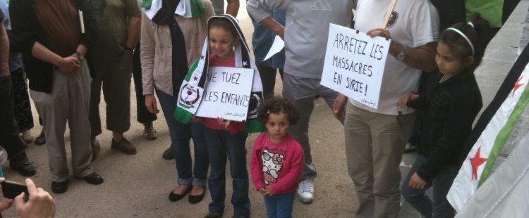 Rassemblement pour dénoncer le massacre de al Houllé – 2/6/12