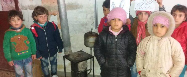 Un peu de chaleur pour les écoliers syriens – Février 2018