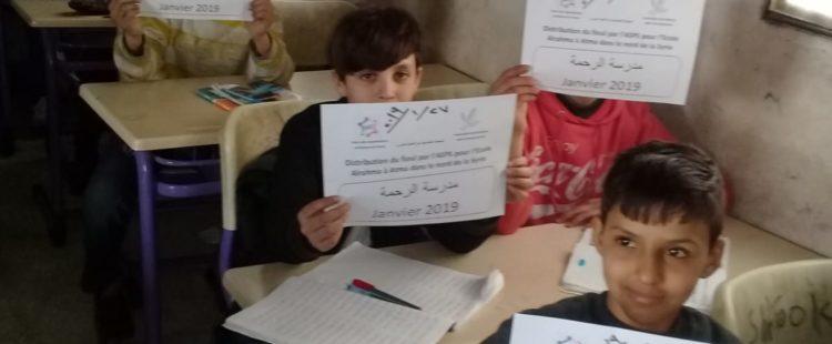 Un peu de chaleur pour les écoliers syriens – Décembre, Janvier et Février 2019