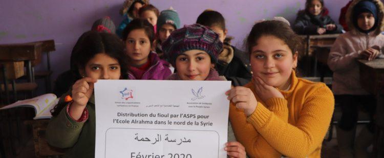 Un peu de chaleur pour les écoliers syriens – Février 2020